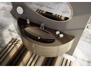 Sectional single wall-mounted vanity unit FREEDOM 05 - LEGNOBAGNO