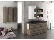 Sectional single vanity unit FREEDOM 10 - LEGNOBAGNO