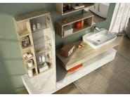 Sectional single wall-mounted vanity unit FREEDOM 20 - LEGNOBAGNO