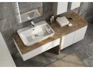 Sectional single wall-mounted vanity unit FREEDOM 12 - LEGNOBAGNO