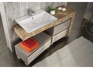 Sectional single wall-mounted vanity unit FREEDOM 13 - LEGNOBAGNO