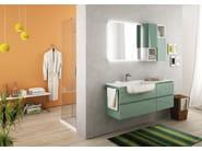 Sectional single wall-mounted vanity unit FREEDOM 15 - LEGNOBAGNO