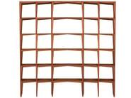 Open double-sided walnut bookcase KANT | Bookcase - Morelato
