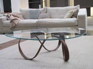 Glass coffee table for living room BELT - ESTEL GROUP