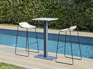 High sled base polypropylene stool BEN 331D | High stool - Mara