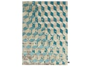 Rectangular rug with geometric shapes INFINI STUCCO SOIE - cc-tapis ®