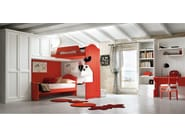Loft wooden teenage bedroom EVERY DAY NIGHT | Composition 12 - Callesella Arredamenti S.r.l.