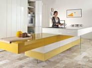 Lacquered fitted kitchen with island 36E8 | Kitchen with island - Lago