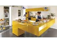 Lacquered fitted kitchen with peninsula 36E8 | Kitchen with peninsula - Lago