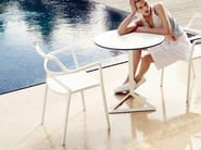 Garden chair with armrests DELTA | Chair - VONDOM
