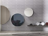 Wall-mounted mirror with cabinet PUNTO - Lago
