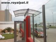 Modular acrylic glass door canopy CLASSIC STYLE - ROYAL PAT