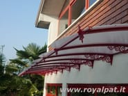 Modular acrylic glass door canopy LIBERTY STYLE - ROYAL PAT