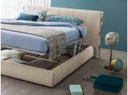 Upholstered fabric storage bed CUFF | Storage bed - Bonaldo