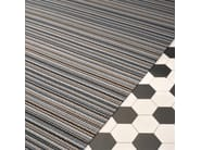 Rectangular striped paper yarn rug MIDSUMMER - Woodnotes