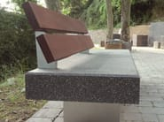 Bench with back PAUSE - PAVESMAC