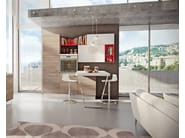 Lacquered fitted kitchen SWING | Lacquered kitchen - Cucine Lube
