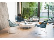 Sled base easy chair with armrests GUAPA AT | Reception chair - Midj