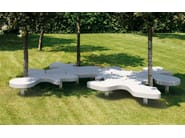 Modular reconstructed stone Bench NATURAL PUZZLE - Metalco