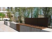 Modular Bench with Integrated Planter MAMUÀ - Metalco