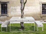 Rectangular picnic table ALAN - Metalco