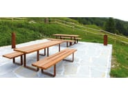 Rectangular wooden picnic table PIC BULL - Metalco