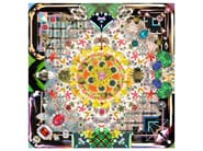 Patterned square rug JEWELS GARDEN - Moooi©