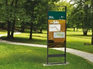 Double-sided steel notice board SENNA - Metalco