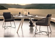 Steel and wood easy chair RIVERA LITTLE CHAIR - Minotti