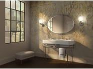 Console double washbasin with towel rail CRYSTAL MEMPHIS - Devon&Devon