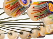 LED blown glass chandelier CANDY - RING CHANDELIER - Lasvit