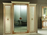 Mirrored wooden wardrobe LEONARDO | Mirrored wardrobe - Arredoclassic