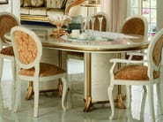 Classic style oval wooden dining table MELODIA | Table - Arredoclassic