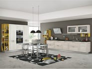 Linear fitted kitchen with handles MYA - CREO Kitchens by Lube