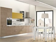 Linear fitted kitchen with handles INKA - CREO Kitchens by Lube