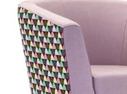 Upholstered guest chair with armrests CARVER | Armchair - Domingo Salotti