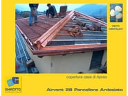 Ventilated roof system AIRVENT 28 PANNELLONE SLATED - GHIROTTO TECNO INSULATION