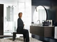 Wall-mounted vanity unit with mirror MAORI 5 | Vanity unit - Cerasa