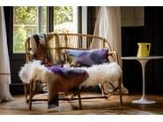 Rectangular linen cushion with removable cover BULLES - Élitis