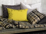 Rectangular cotton cushion with removable cover LOCH - Élitis