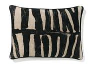Rectangular linen cushion with removable cover ZEBRA - Élitis