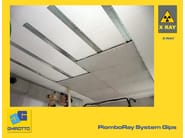 Sound insulation and sound absorbing felt with lead-laminate PIOMBORAY SYSTEM GIPS - GHIROTTO TECNO INSULATION