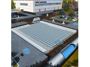 Rainwater accumulation and draining system DRENING - GEOPLAST