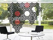 Sound absorbing workstation screen AIRFLAKE - Abstracta
