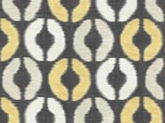 Washable multi-colored linen fabric with graphic pattern BASKIAT - Dedar