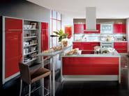 Lacquered kitchen with island XENO 663 - Nobilia-Werke