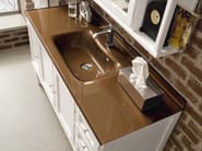 Wooden vanity unit with doors with drawers YORK 4 | Vanity unit - Cerasa