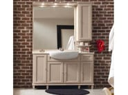 Wooden vanity unit with cabinets with mirror YORK 6 | Vanity unit - Cerasa