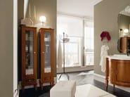 Wooden bathroom cabinet YORK 2   Tall bathroom cabinet - Cerasa