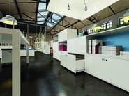 Design modular metal office storage unit DOTBOX | Modular office storage unit - Dieffebi